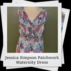 EUC | Jessica Simpson Patchwork Maternity Dress